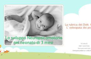 Sviluppo Neuropsicomotorio in bambino di 3 mesi
