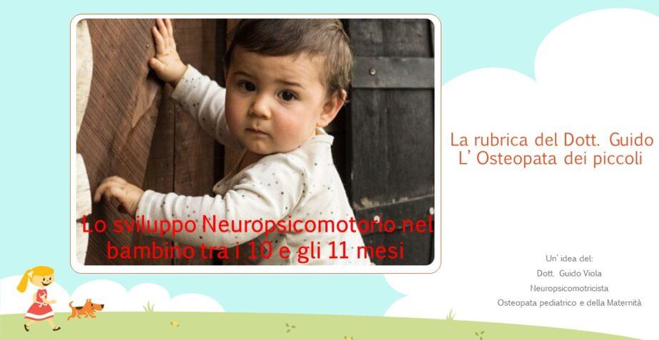 Sviluppo Neuropsicomotorio nel bambino di 10/11 mesi